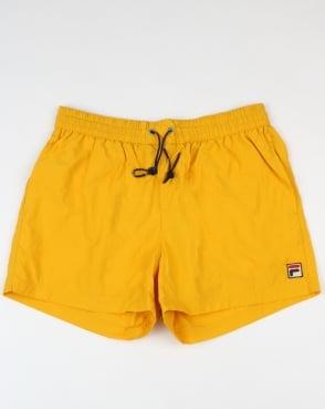 Fila Vintage Artoni Swim Shorts Lemon Chrome