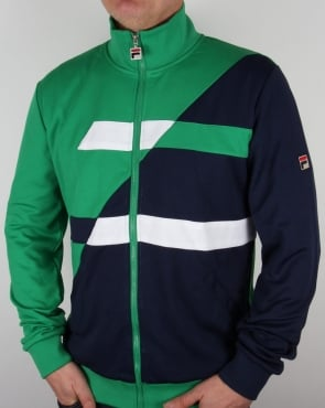 Fila Vintage Azzaro Track Top Kelly Green/Navy