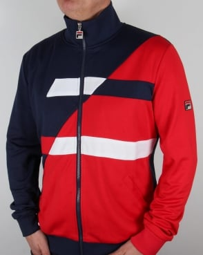 Fila Vintage Azzaro Track Top Navy/Red