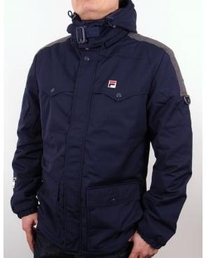 Fila Vintage Baresi Padded Jacket Navy
