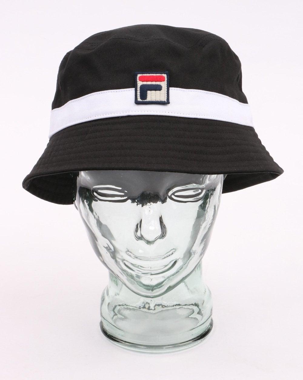 Fila Vintage Basil Bucket Hat Black