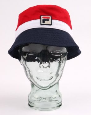 75e3b75ce51 Fila Vintage Basil Bucket Hat Red white navy