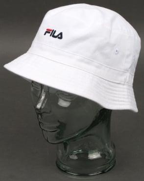 Fila Vintage Baxter Bucket Hat White