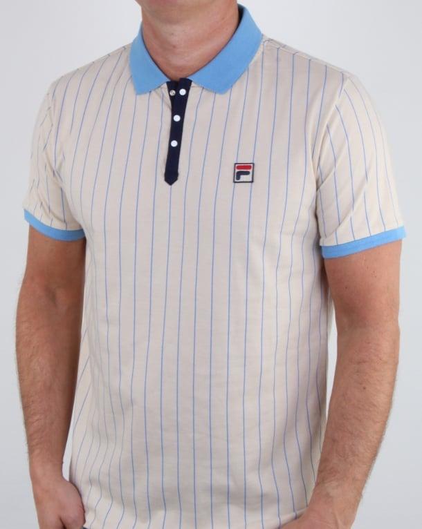 Fila Vintage Bb1 Polo Shirt Cream