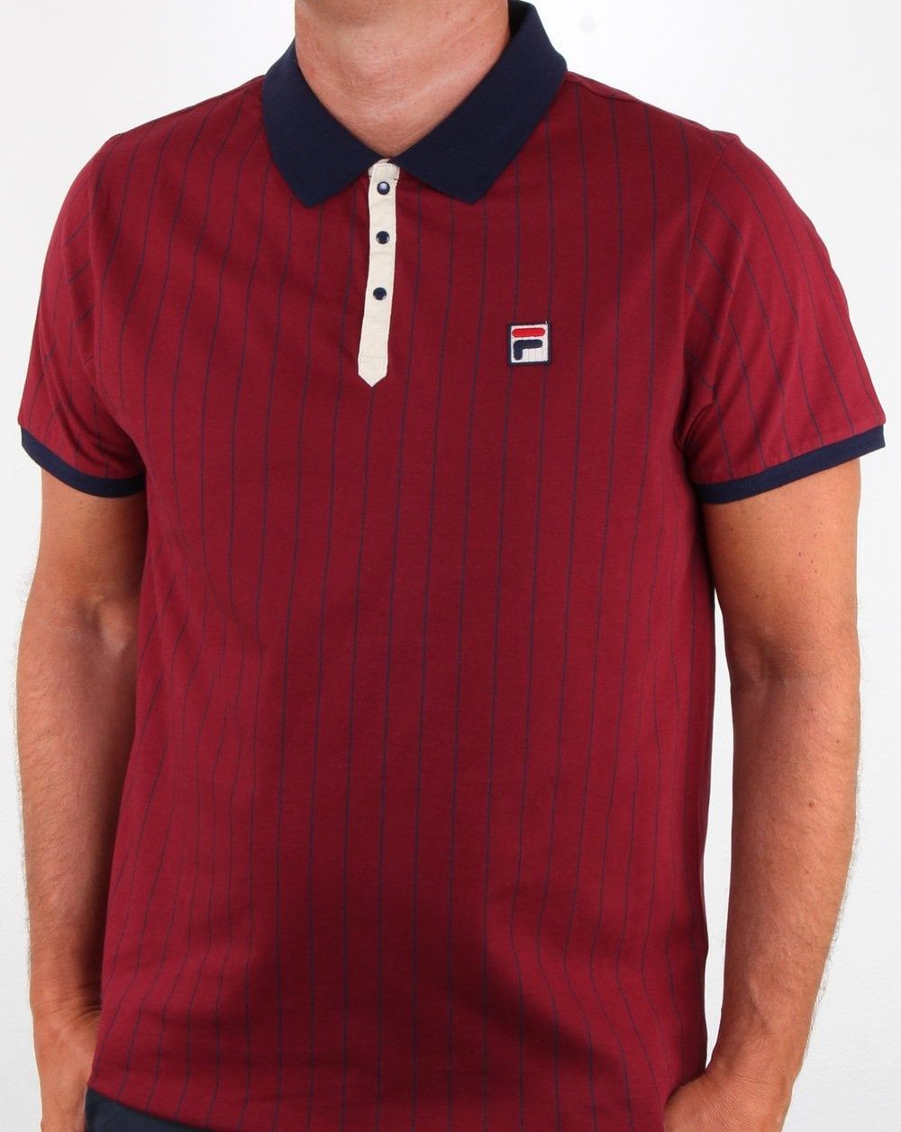Fila Vintage Bb1 Polo Shirt Tibetan Red/Navy