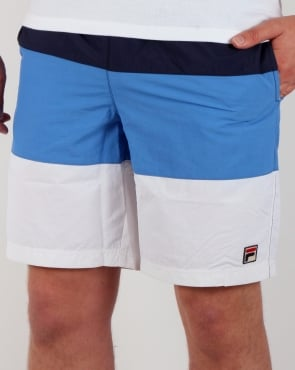 Fila Vintage Beam Beach Shorts Navy/White/Ocean