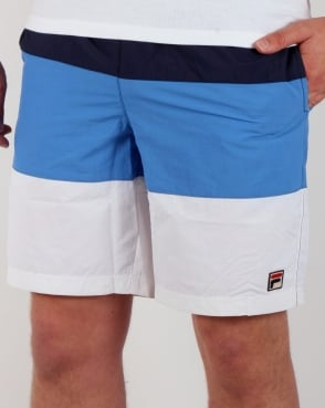 Fila Vintage Beam Beach Shorts Navy/White/Ocean