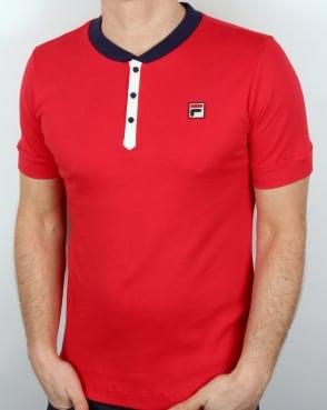 Fila Vintage Bertolucci Grandad T-shirt Red