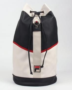 Fila Vintage Biago Duffle Bag Navy/White