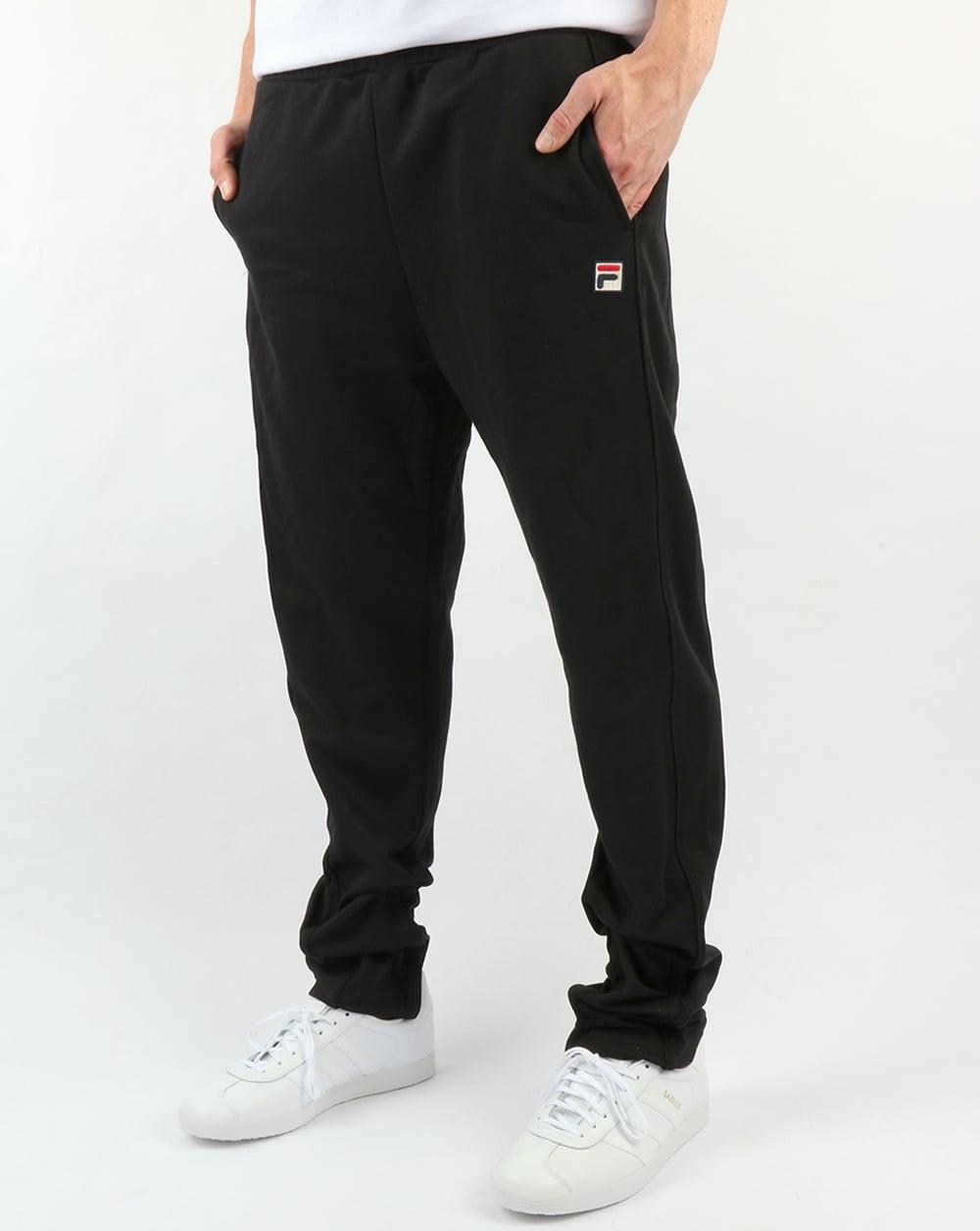 d14b6c2e99a13 Fila Vintage Bianchi Track Pants Black,tracksuit,bottoms,joggers