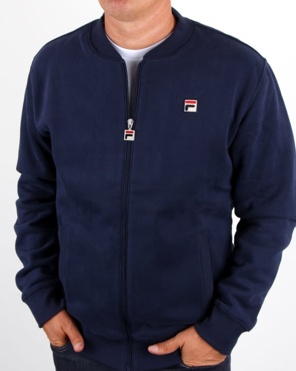 Fila Vintage Borg Collar Fleece Top Navy