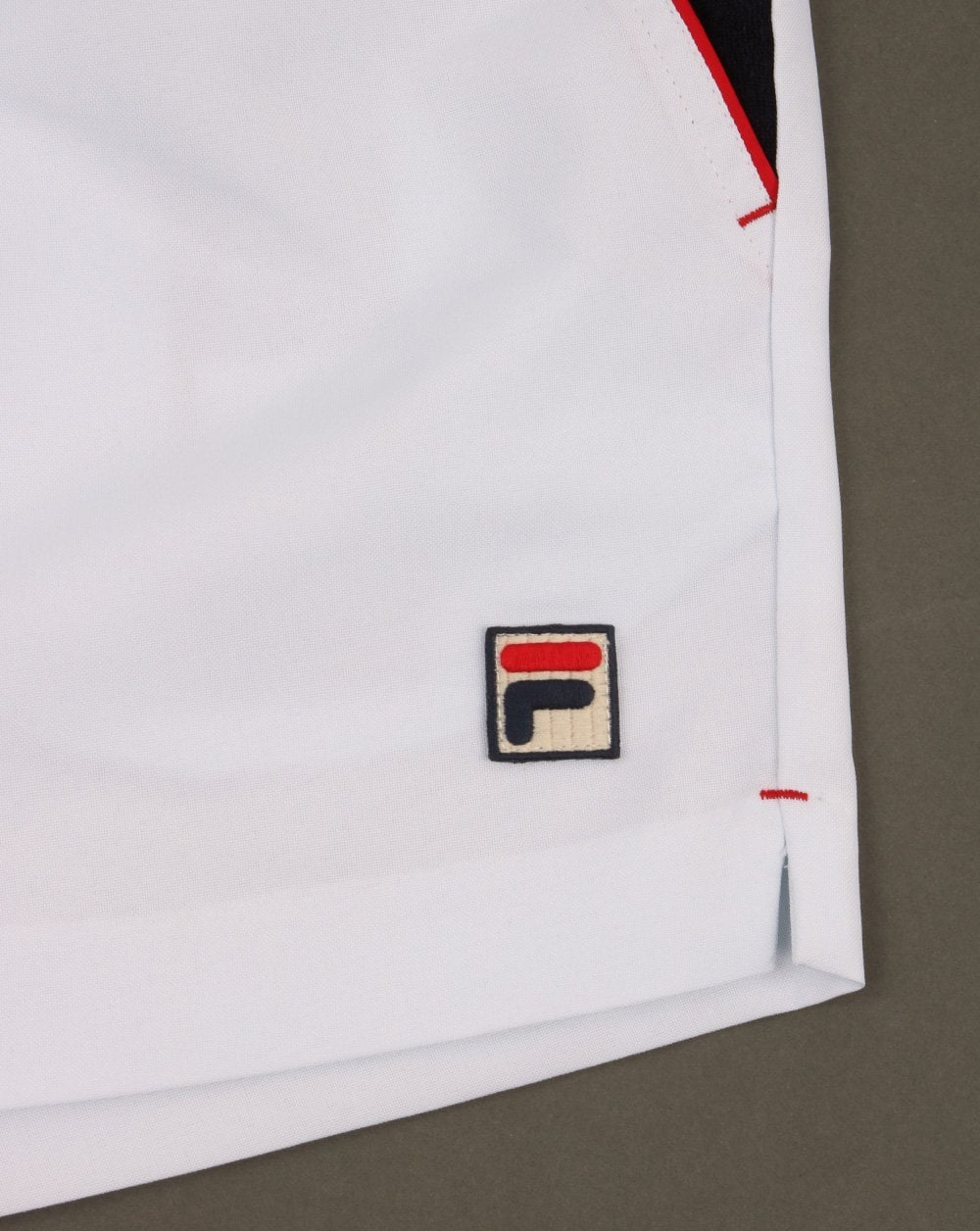 retro tennis shorts Borg Settanta Fila Vintage High Tide 4 Shorts in White