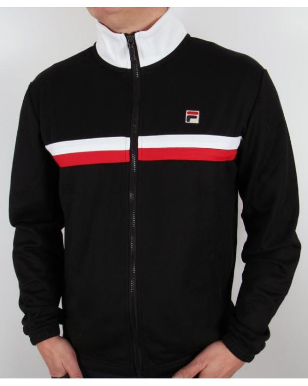 Fila Vintage Bowbreaker 2 Track Top Black/White/Red