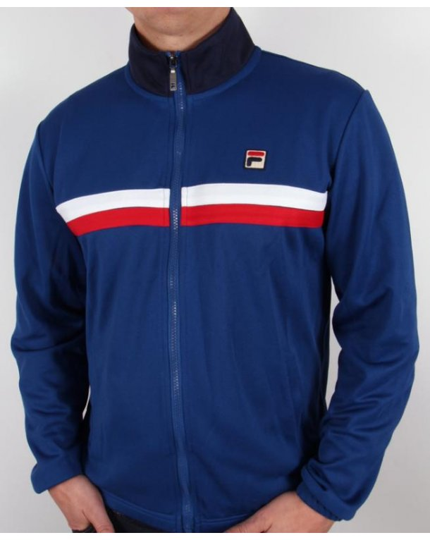 Fila Vintage Bowbreaker 2 Track Top Italia Blue/Red/White