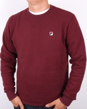 Fila Vintage Brixen Sweatshirt Burgundy