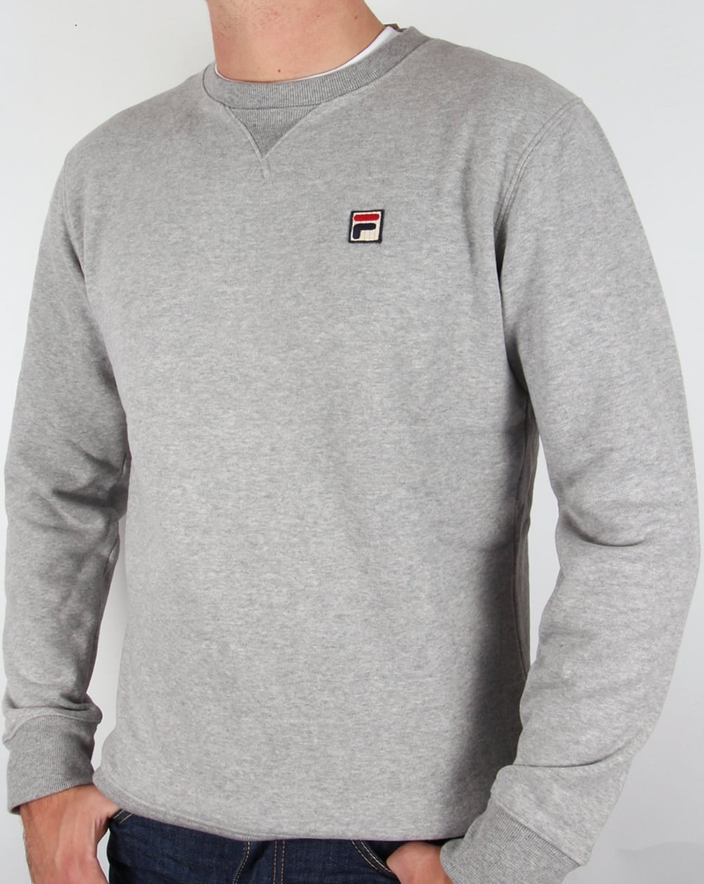 cce3a3f9589 Fila Vintage Brixen Sweatshirt Grey,crew neck,round,sweat,mens