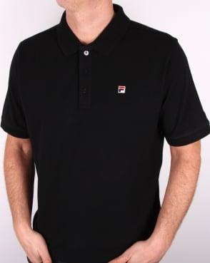 Fila Vintage Brizzi Polo Shirt Black