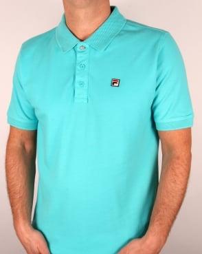 Fila Vintage Brizzi Polo Shirt Blue Radience