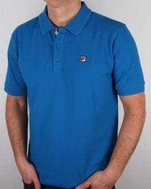 Fila Vintage Brizzi Polo Shirt Imperial Blue