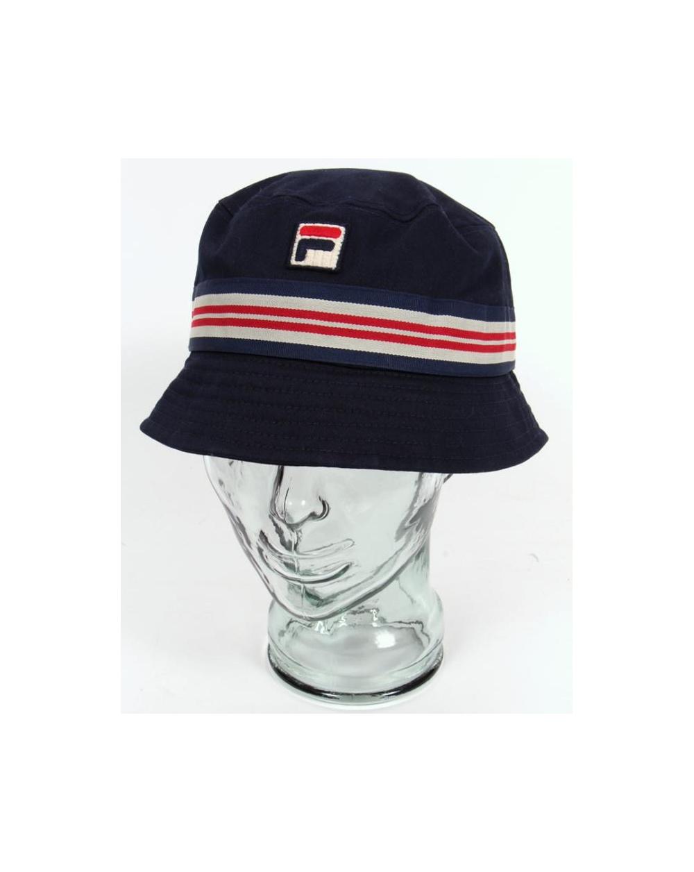 8b6ea754a Fila Vintage Bucket Hat Navy