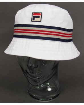 Fila Vintage Bucket Hat White