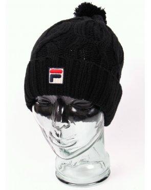 Fila Vintage Calapai Knitted Ski Bobble Beanie Black