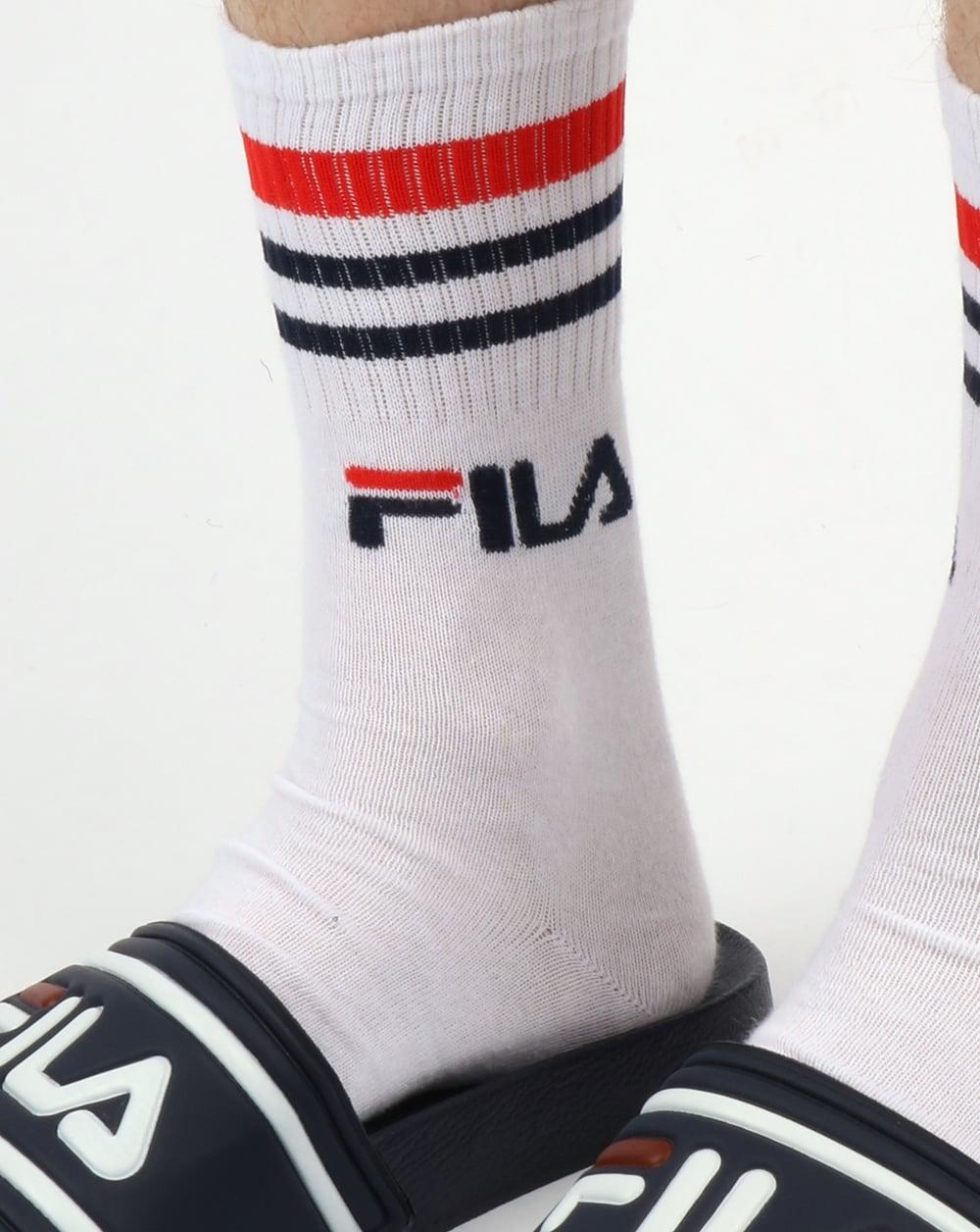 Fila Vintage Calza 3 Pack Socks White Sports Cotton