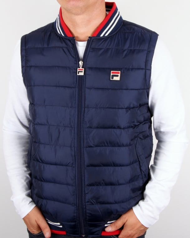 Fila Vintage Canapine Gilet Navy