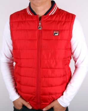 Fila Vintage Canapine Gilet Red