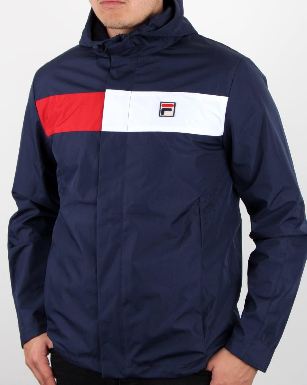Fila Vintage Cardova Jacket Navy, Men's, Coat