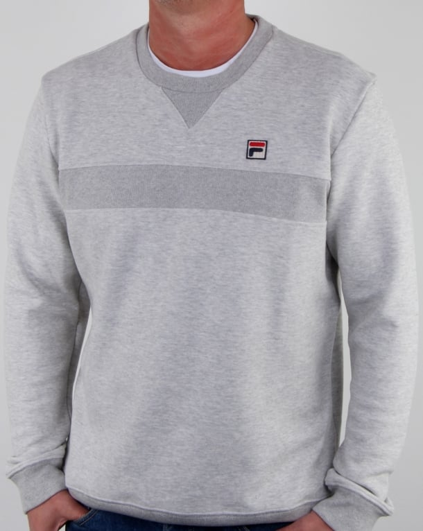 Fila Vintage Carlo Sweatshirt Light Grey Marl