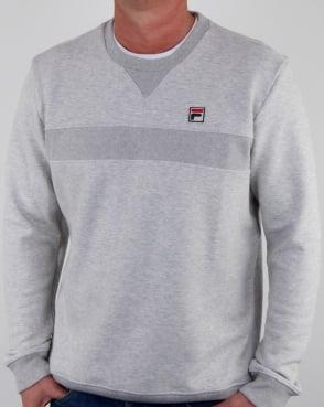 Fila Vintage Carlo Sweatshirt Light Grey Marl