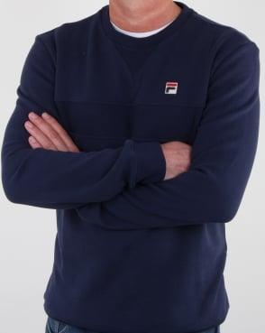 Fila Vintage Carlo Sweatshirt Navy