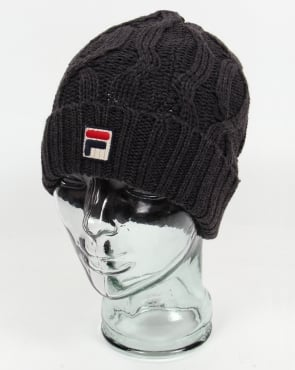 Fila Vintage Cavinato Ski Beanie Charcoal Grey