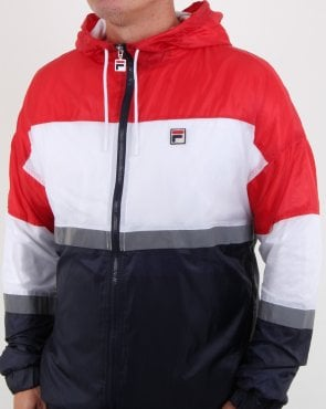 Fila Vintage Cedric Rain Jacket Red/navy/white