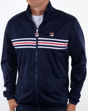 Fila Vintage Chest Striped Track Jacket Navy