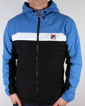 Fila Vintage Clipper Jacket Black/Ocean/White