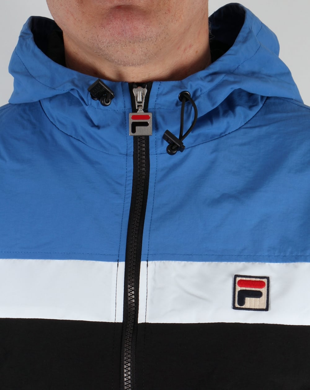 92d72b3b1dcbb Fila Vintage Clipper Jacket Black/Ocean/White