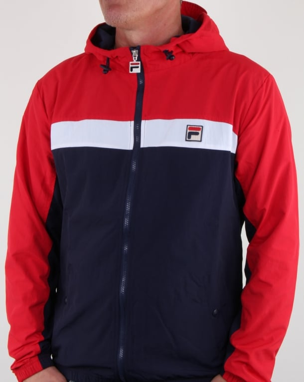 Fila Vintage Clipper Jacket Navy/red/white