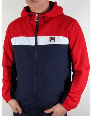 Fila Vintage Clipper Jacket Navy/white/red