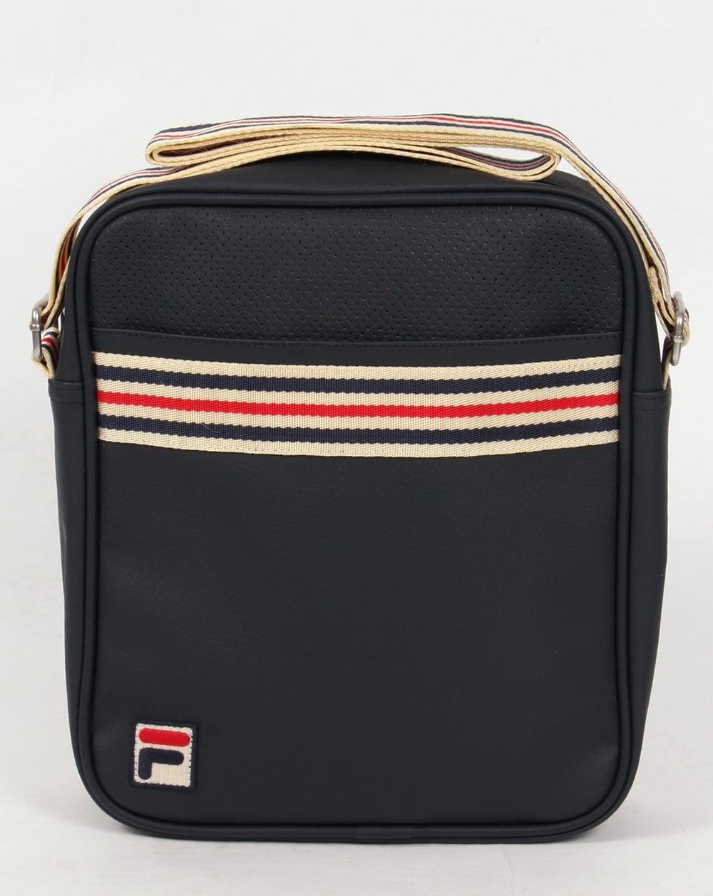 Fila Vintage Court Small Shoulder Bag Navy,holdall,messenger