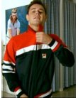 Fila Vintage Court Vilas Track Top Navy/Red/White