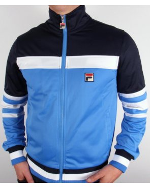 Fila Vintage Court Vilas Track Top Ocean Blue/White/Navy