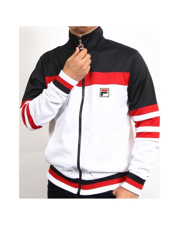 fila sweatsuit mens white