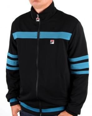 Fila Vintage Courto Track Top Black/ Blue