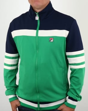Fila Vintage Courto Track Top Kelly Green/navy