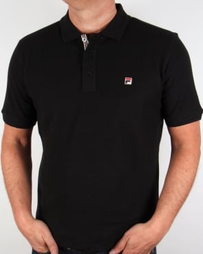 Fila Vintage Cranze Polo Shirt Black