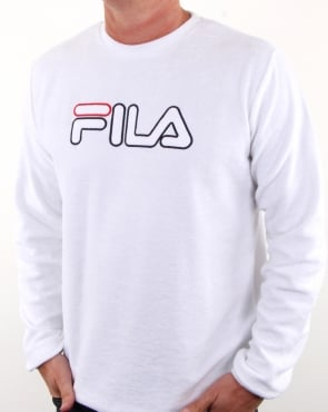 Fila Vintage Cristallo Towelling Sweat White