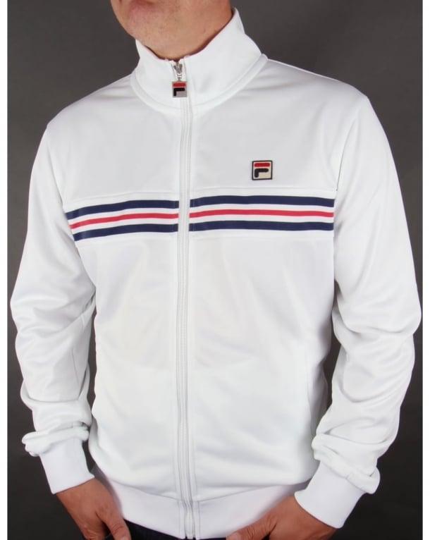 Fila Vintage Darios Stripe Track Top White