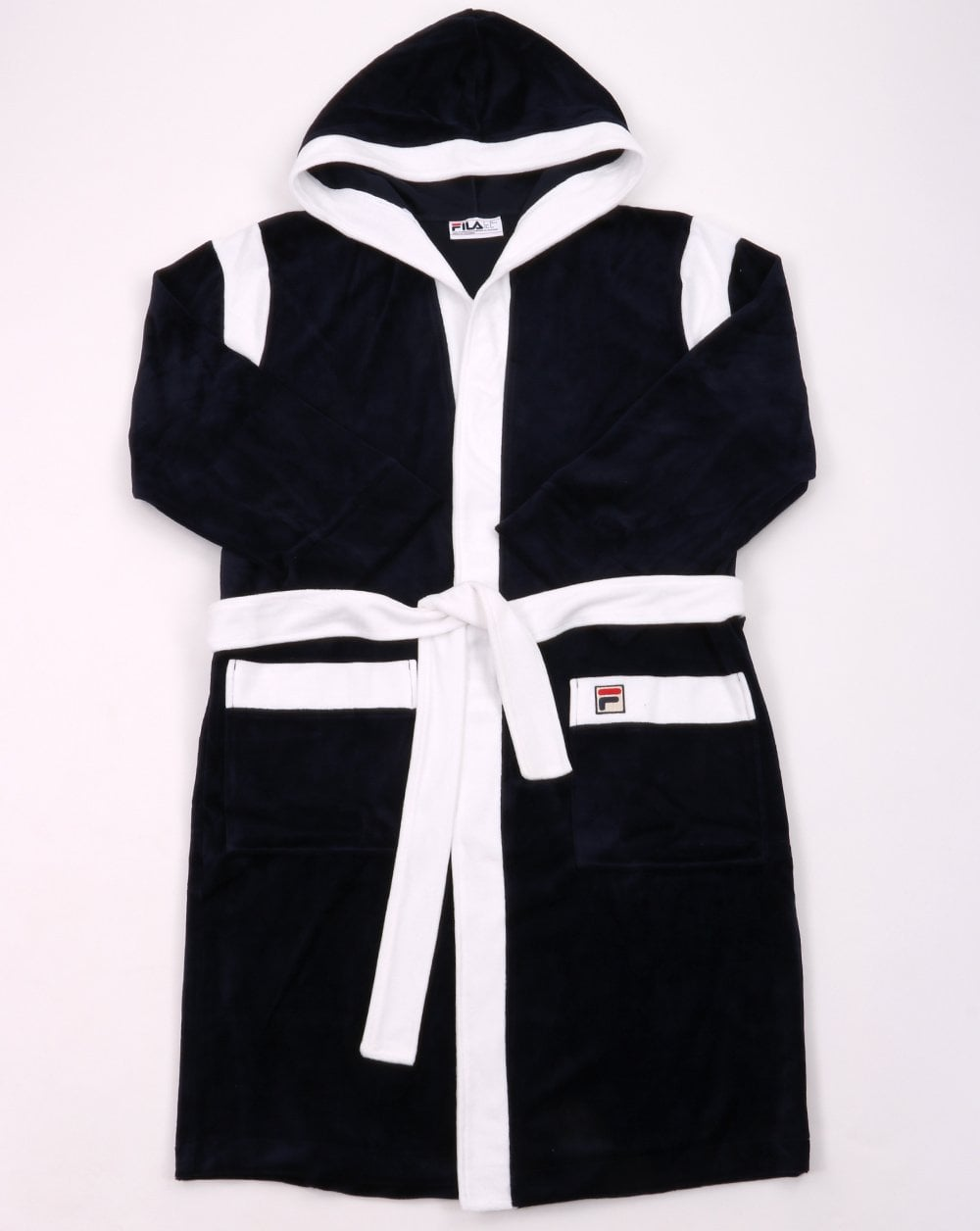 Fila Vintage Dressing Gown Navy White 80s Casual Classics